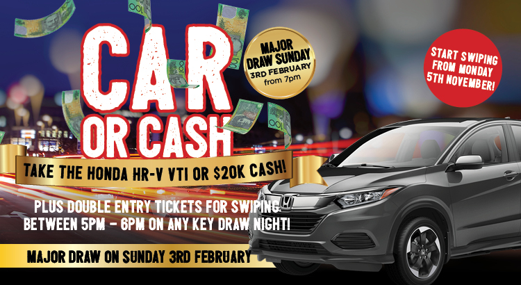 WIN A HONDA HRV OR 20K CASH!