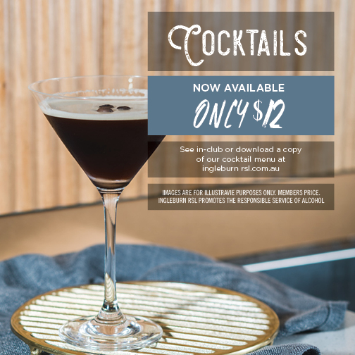 Click on the Image to see our cocktail list