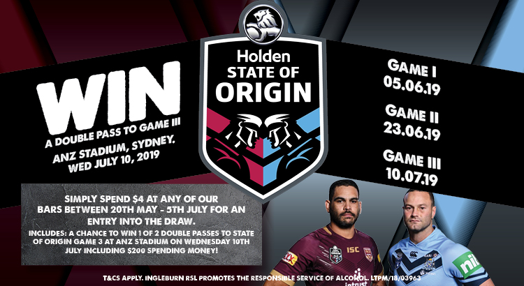 WIN A DOUBLE PASS TO STATE OF ORIGIN