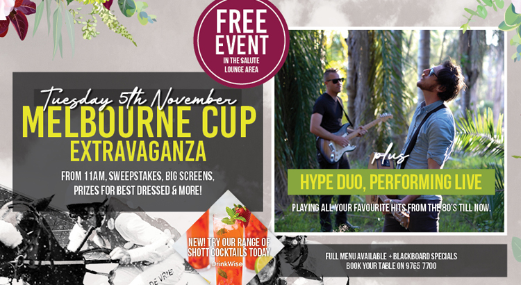 MELB. CUP DAY FEAT. HYPE DUO LIVE