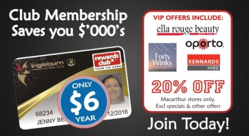 Ingleburn RSL | Membership | Rewards Card Ella Rouge