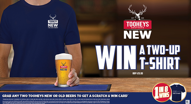 WIN A TOOHEY 2-UP T-SHIRT