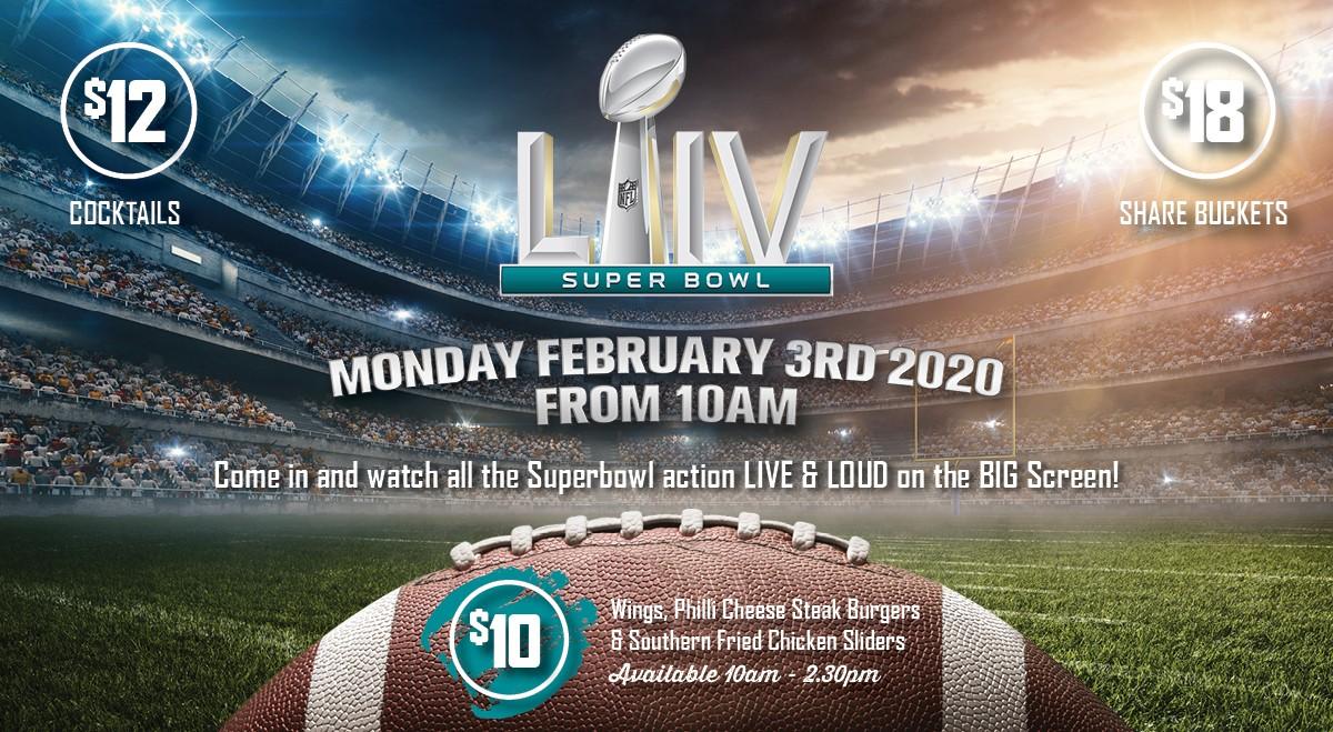 SUPERBOWL LIVE – MON 3RD FEB